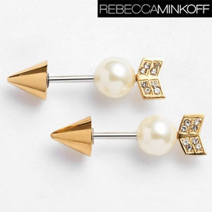 Rebecca Minkoff Arrow Faux Diamond/ Pearl Studs